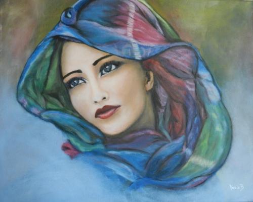 Bekannt Peintures, dessins et + » Portrait de femme OD75