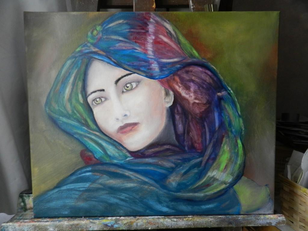 Sehr Peintures, dessins et + » Portrait de femme GD95